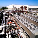Rooftop air conditioning units, chillers and process piping